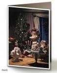 Vánoční přání - 5 kusů - Pod stromečkem 1