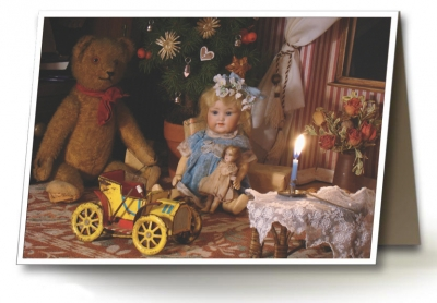 Přáníčka_panenka s medvědem