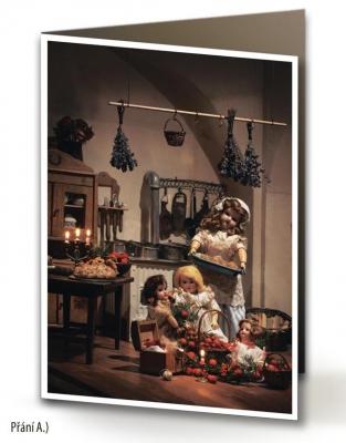 Vánoční přání - 5 kusů - Kuchyňka 1