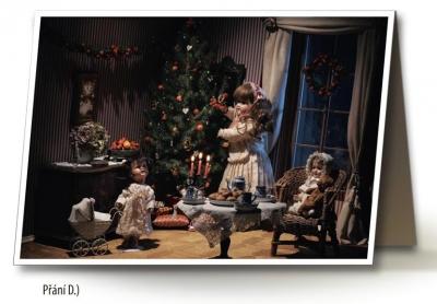 Vánoční přání - 5 kusů - Pod stromečkem 2